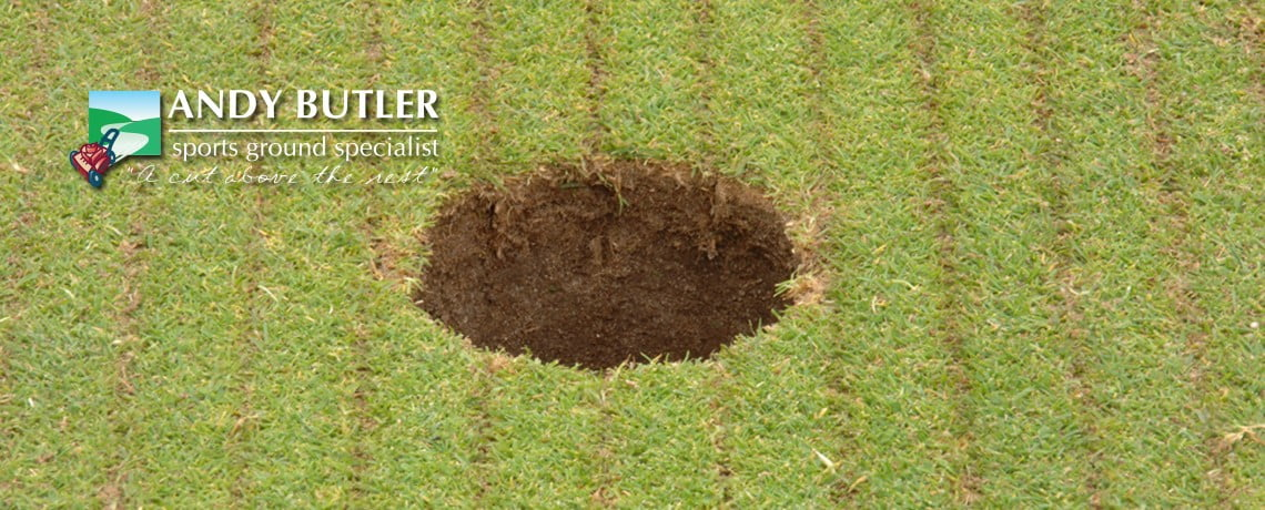 Golf course and tee maintenance from Andy Butler Sports Ground Specialist